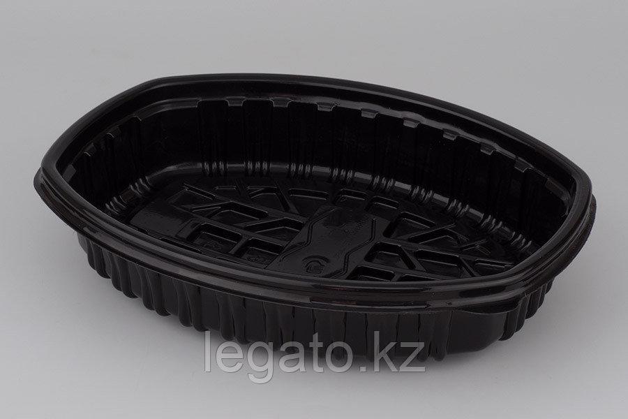 Контейнер Ланч-бокс СпК-258 258*202*48мм черный (для курицы)