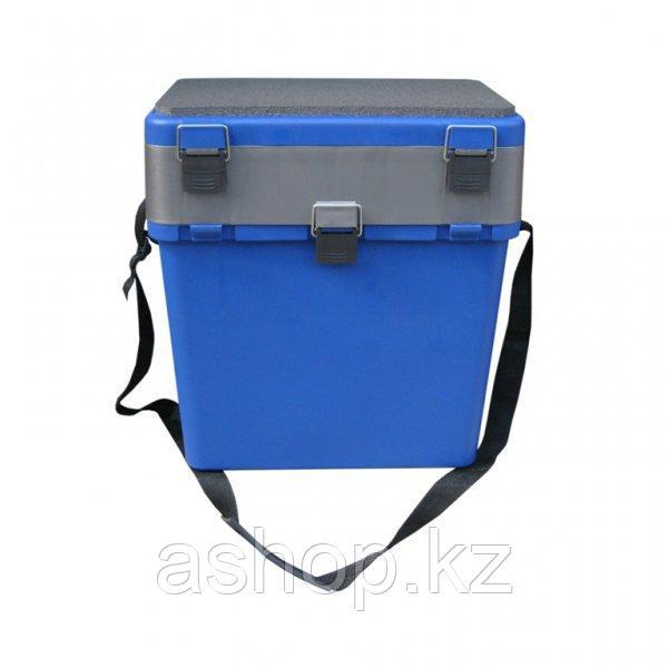 Ящик для замней рыбалки двухсекционный Helios М, Объем: 19 л, Морозостойкий и ударопрочный ABS-пластик, металл