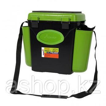 Ящик для замней рыбалки односекционный Helios FishBox 10.2, Объем: 10 л, Морозостойкий и ударопрочный ABS-плас
