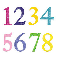 Набор толстых ножей для вырубки из 5 предметов - цифры с дерзким шрифтом от Е.Л. Смита.   Sizzix