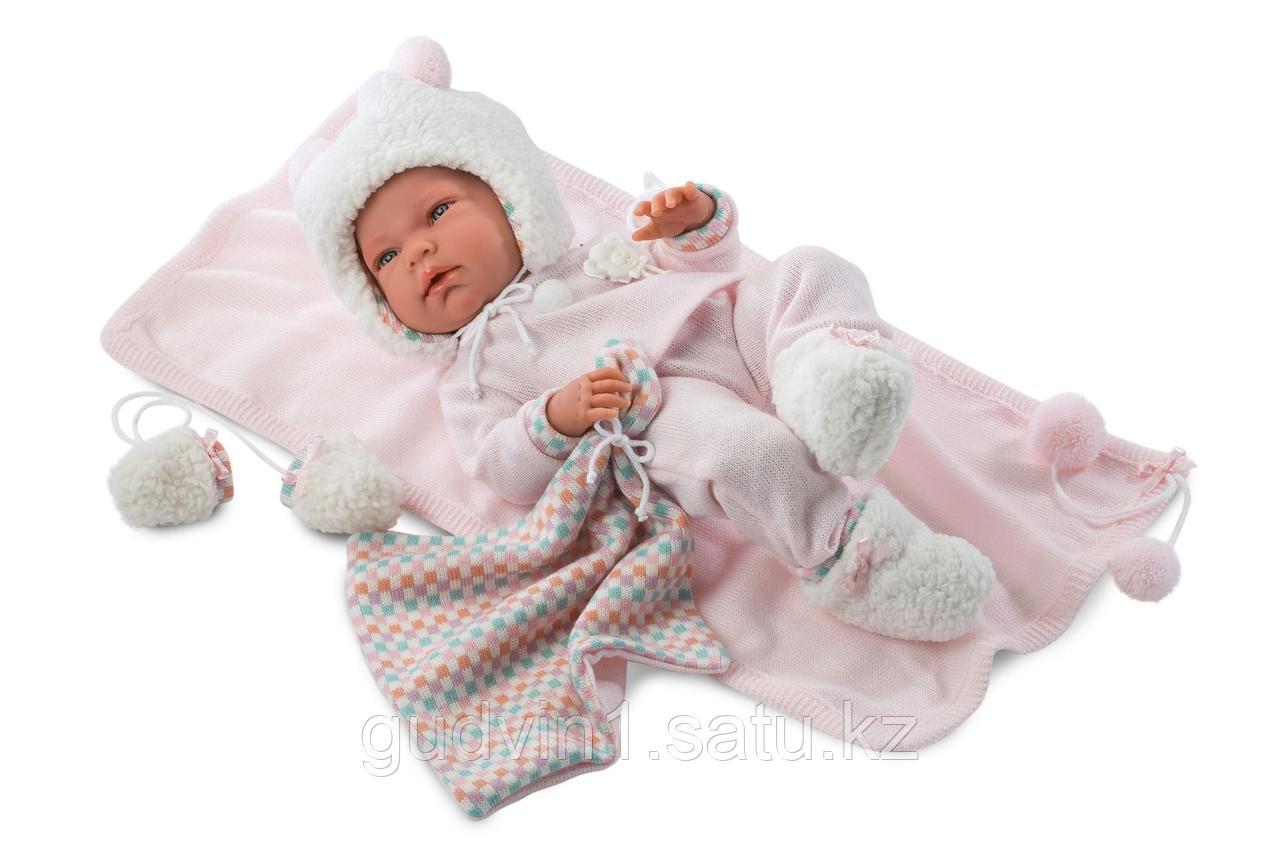 LLORENS: Кукла малышка Ника 40 см в теплой шапочке и с варежками 73854