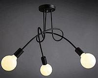 Люстра в стиле Loft черная на 3 лампочки