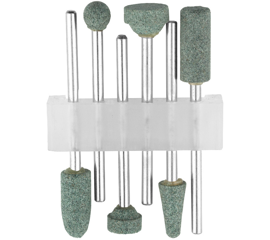 Набор STAYER: Насадки шлифовальные абразивные с оправкой, карбид кремния, 6шт