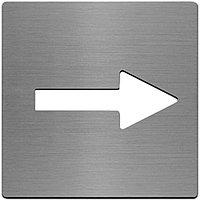 Symbol arrow l/r stst. 100mm