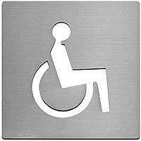 """Символ """"Инвалид"""". нержавеющая сталь, 100 мм"""