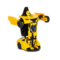 Игрушка трансформер Rastar RS Transformable car, Трансформации: Робот, автомобиль, Цвет: Жёлтый, (61810Y)