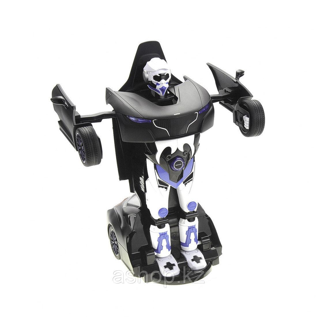 Игрушка трансформер Rastar RS Transformable car, Трансформации: Робот, автомобиль, Цвет: Чёрный, (61810B)