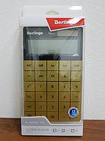 """Калькулятор настольный Berlingo """"PowerTX"""", 12 разр., двойное питание, 165*105*13мм, золотой, фото 2"""