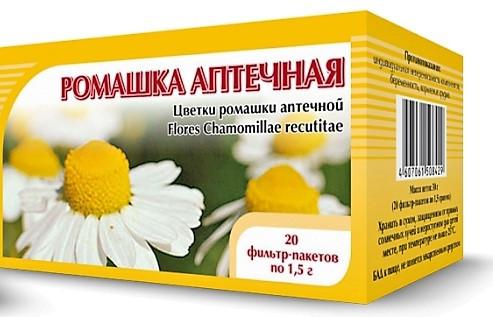 Ромашка аптечная, цветки, 20 фильтр/пак