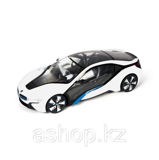 Радиоуправляемая модель автомобиль Rastar BMW I8, 1:14, Управление: Джойстик, Материал: Пластик, Цвет: Серебри
