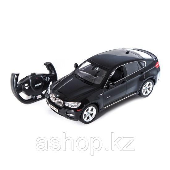 Радиоуправляемая модель автомобиль Rastar BMW X6, 1:14, Управление: Джойстик, Материал: Пластик, Цвет: Чёрный,