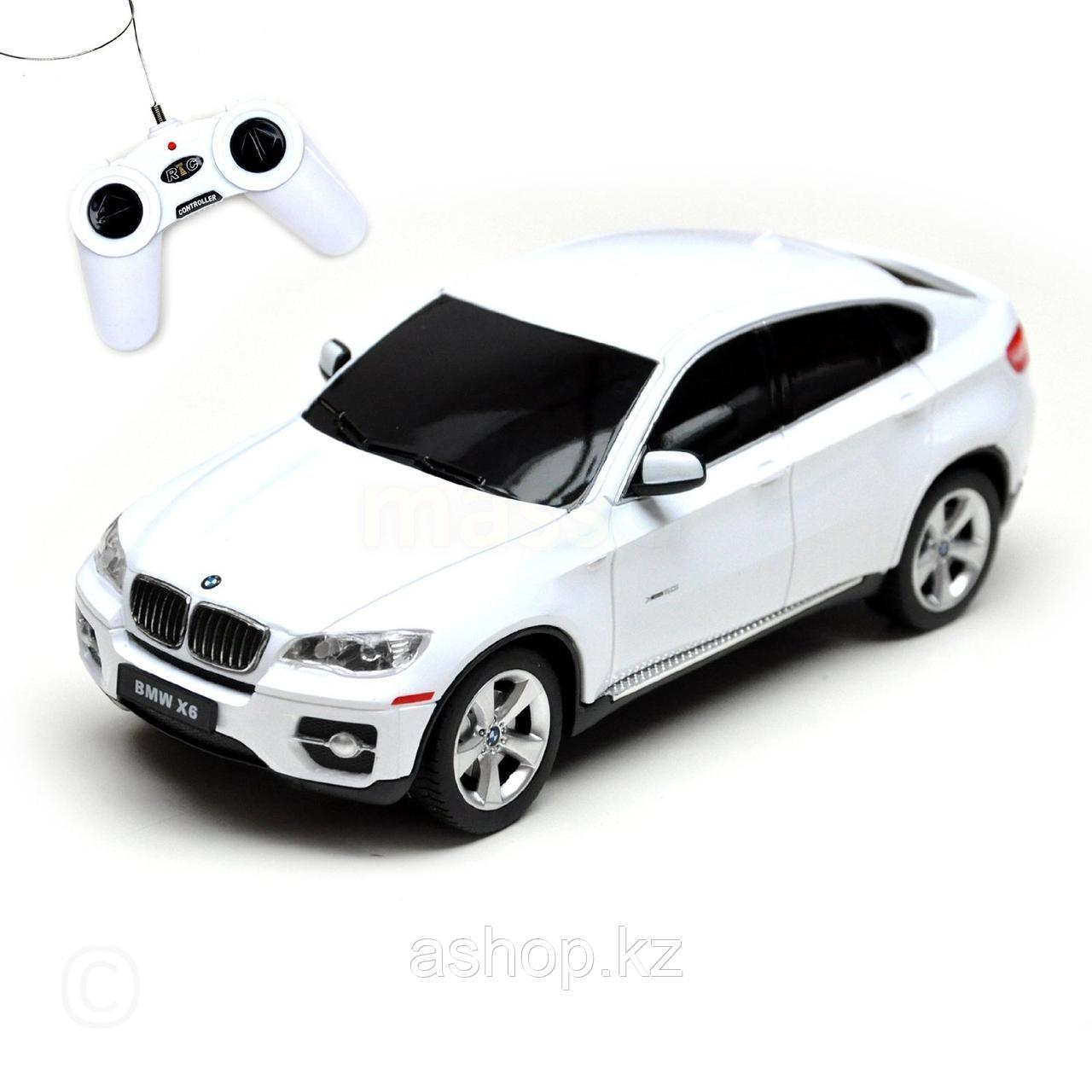 Радиоуправляемая модель автомобиль Rastar BMW X6, 1:24, Управление: Джойстик, Материал: Пластик, Цвет: Белый,