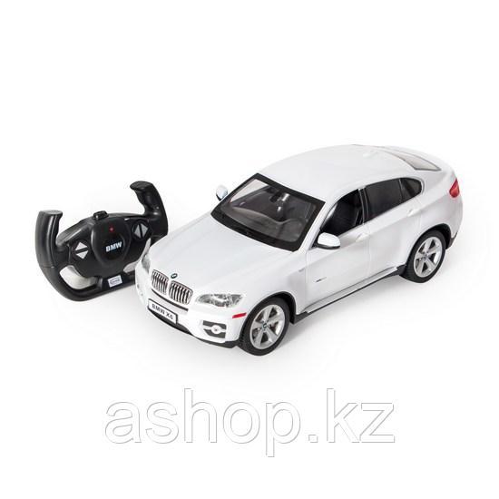 Радиоуправляемая модель автомобиль Rastar BMW X6, 1:14, Управление: Джойстик, Материал: Пластик, Цвет: Белый,