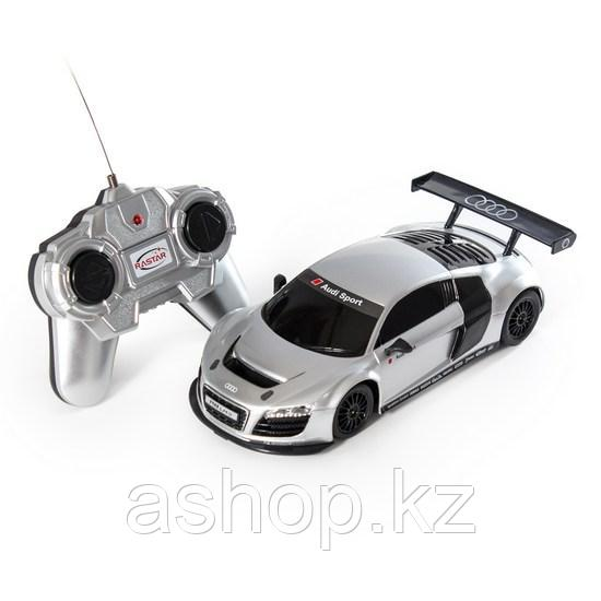 Радиоуправляемая модель автомобиль Rastar AUDI R8, 1:24, Управление: Джойстик, Материал: Пластик, Цвет: Серебр