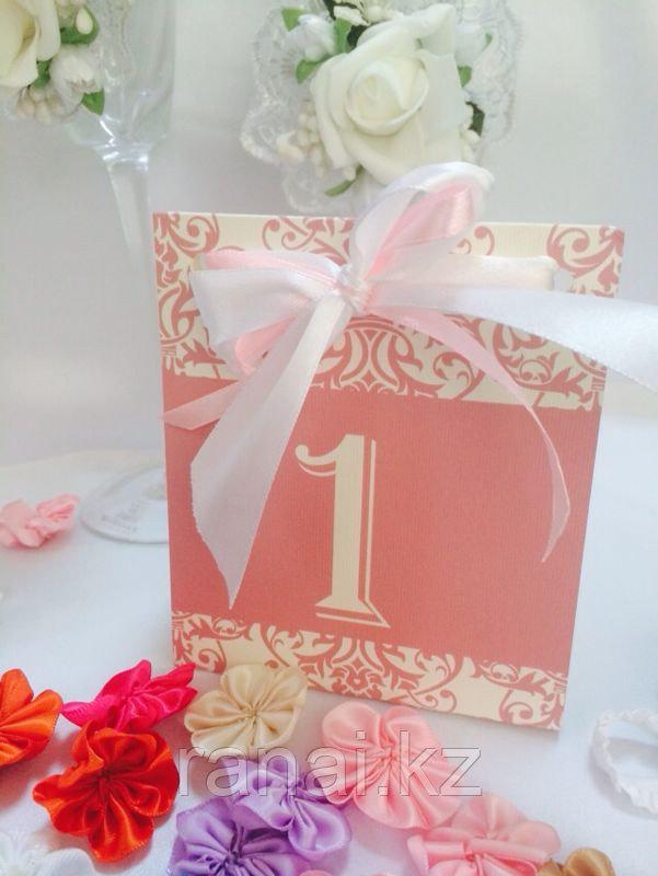 Номерки на свадебные столы