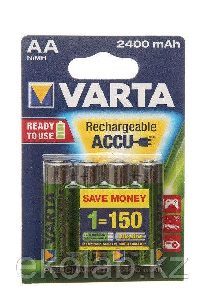Аккумулятор VARTA POWER Ready 2 Use (предзаряженный) AA, 1.2 В, 2400 мАч, NiMH BL4