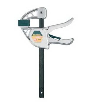 """Струбцина KRAFTOOL """"EcoKraft"""" ручная пистолетная, металлический корпус, 300/500мм, 200кгс"""