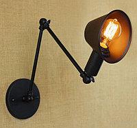 Одноламповый светильник в стиле Лофт черный, фото 1