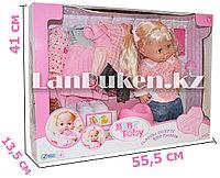 """Интерактивная кукла """"Baby Toby"""" пьет, писает,разговаривает с набором платьев и аксессуарами (h=39 см)"""