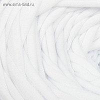 Пряжа трикотажная широкая 50м/170гр, ширина нити 7-8 мм (180 белый)