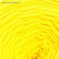 Пряжа трикотажная широкая 50м/170гр, ширина нити 7-9 мм (340 ярко-желтый) МИКС