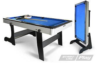 Бильярдный стол складной Компакт 6фт Пул (с комплектом)