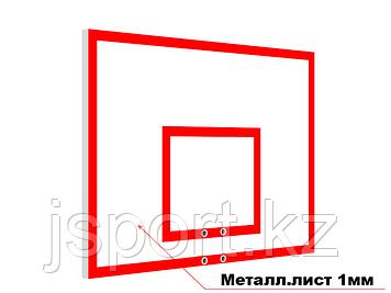 Щит баскетбольный антивандальный из металлического листа  120см*80см