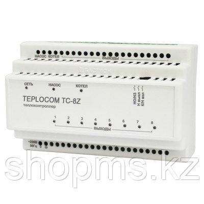Контроллер TEPLOCOM TC-8Z (1 котел, 1 насос, сервоприводы)