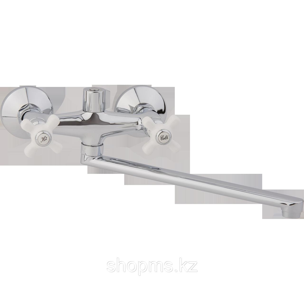 Смеситель ARCO ванна маховик металл. крест, А2505