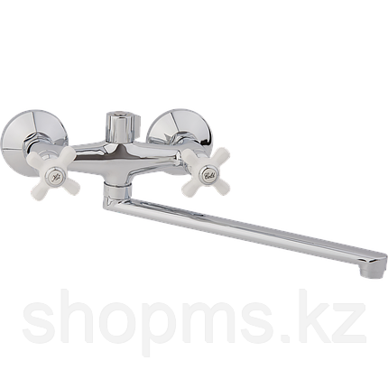 Смеситель ARCO ванна маховик металл. крест, А2505, фото 2