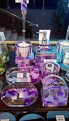 Стакан для ватных палочек Фиолетовые лепестки
