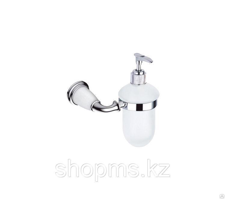 Дозатор для жидкого мыла Potato P7227Х хром с белыми вставками под керамику