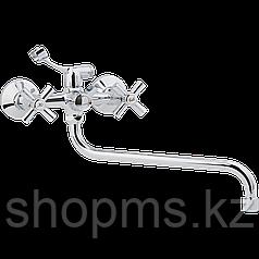 Смеситель ARCO ванна маховик металл. крест, А2520