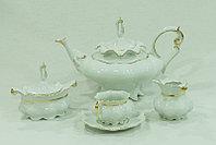 Сервиз чайный 6 персон 15 предм (Queens Crown, Чехия)