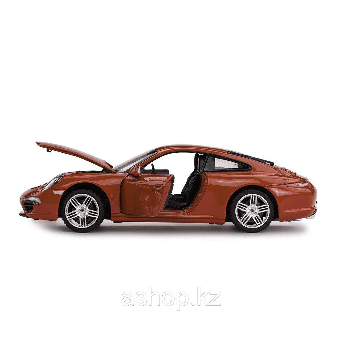 Модель автомобиля коллекционная Rastar Porsche 911, 1:24, Материал: Металл, Цвет: Красный, (56200R)