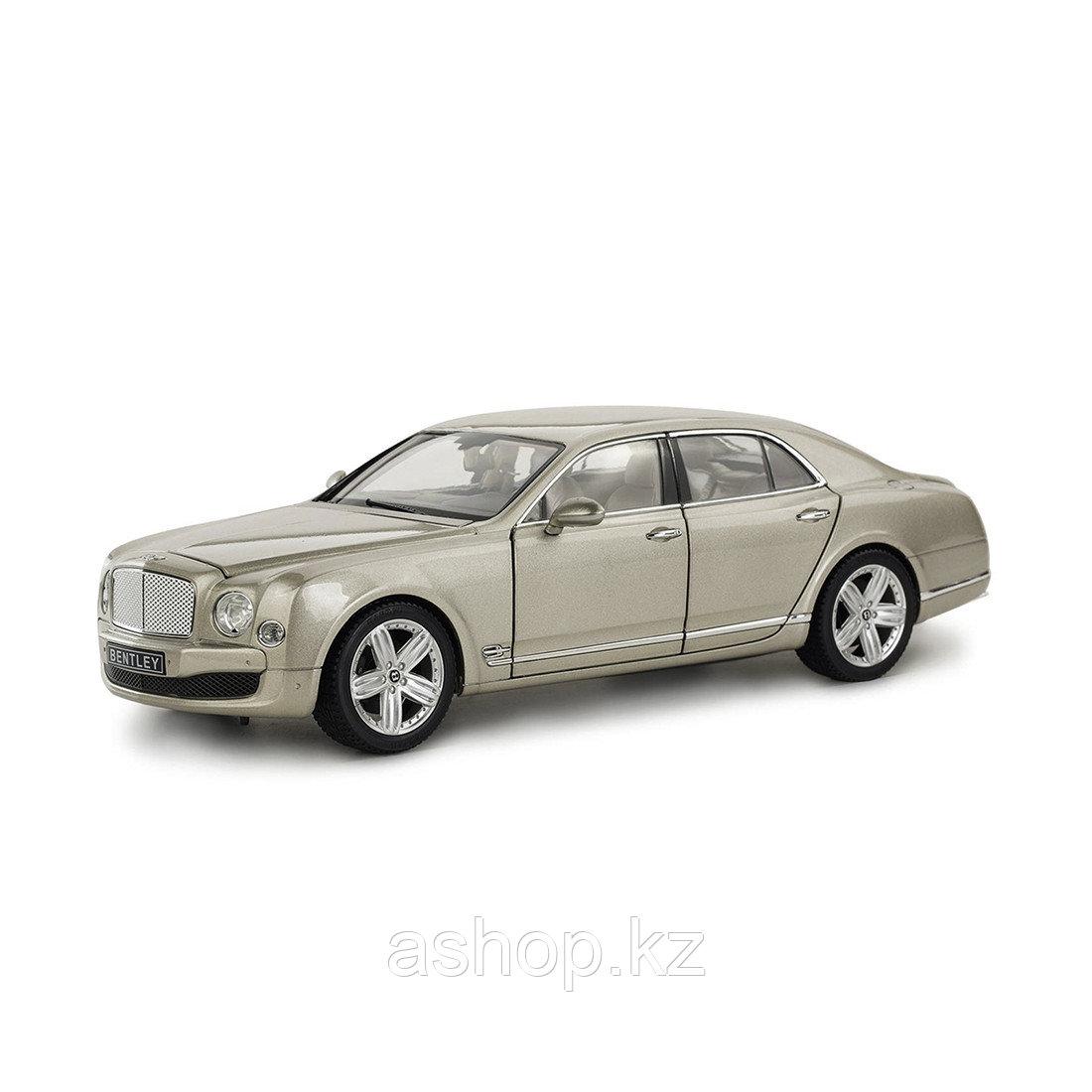 Модель автомобиля коллекционная Rastar Bentley Mulsanne, 1:18, Материал: Металл, Цвет: Бежевый, (43800Ch)