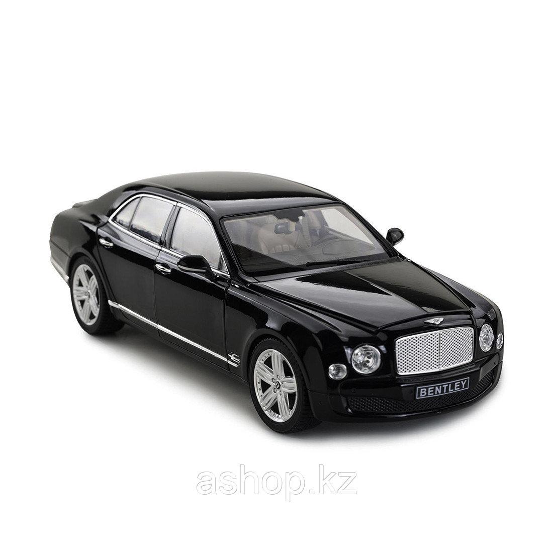 Модель автомобиля коллекционная Rastar Bentley Mulsanne, 1:18, Материал: Металл, Цвет: Чёрный, (43800B)