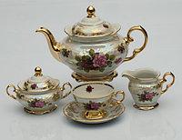 Сервиз чайный 6 персон 15 предм Роза Перламутровая (Carlsbad, Чехия)
