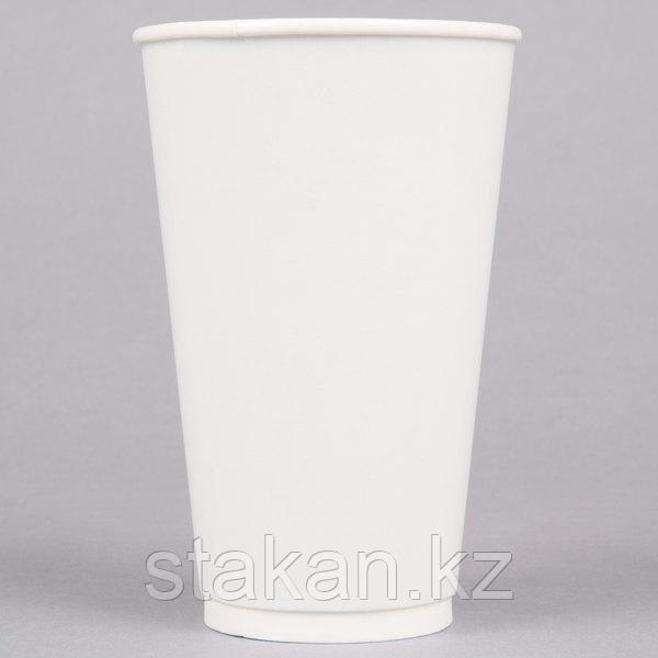 Стакан ДВУХСЛОЙНЫЙ (белый), 400мл