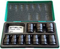 Набор шестигранных ударных торцевых головок 1/2, 10-24 мм, 10 шт, STELS 13997