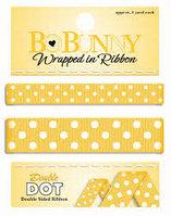 Двусторонняя лента в горох - спелый желтый Bo Bunny