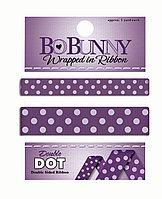Двусторонняя лента в горох - гармония Bo Bunny