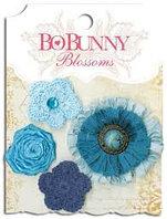 Набор цветов - Далия, голубой, деним Bo Bunny