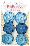 Набор цветов - Анютины глазки - деним, голубой Bo Bunny