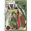 Набор украшений  Christmas Collage. В набор входят бумага, ленты, пуговицы, подвески, штампы, брадсы, и др.