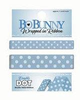 Двусторонняя лента в горох -French Blue Bo Bunny