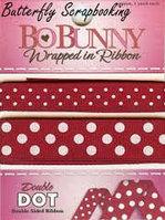 """Двусторонняя лента в горох """"Cranberry"""" Bo Bunny"""