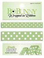 """Двусторонняя лента в горох """"Mint Green"""" Bo Bunny"""
