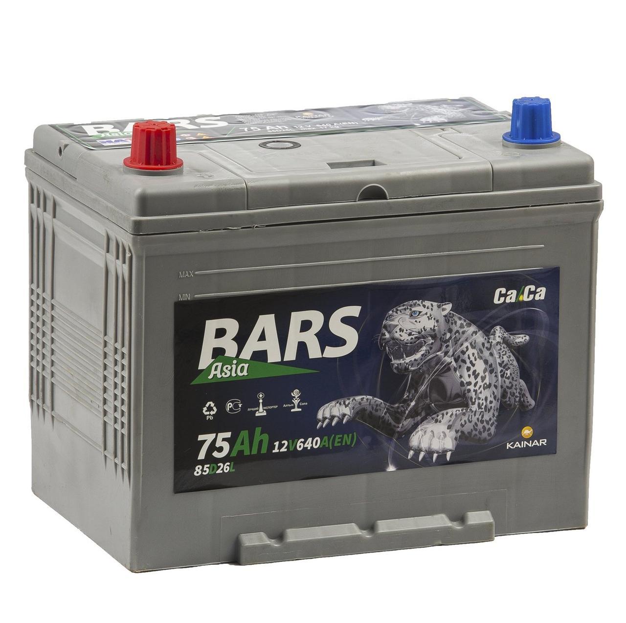 Аккумулятор Bars Asia 75Ah Jis (Высокий)