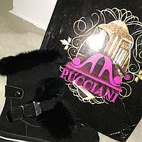 Ботинки женские зимние черные